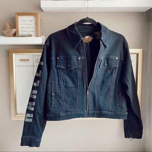 Harley Davidson black denim jacket S
